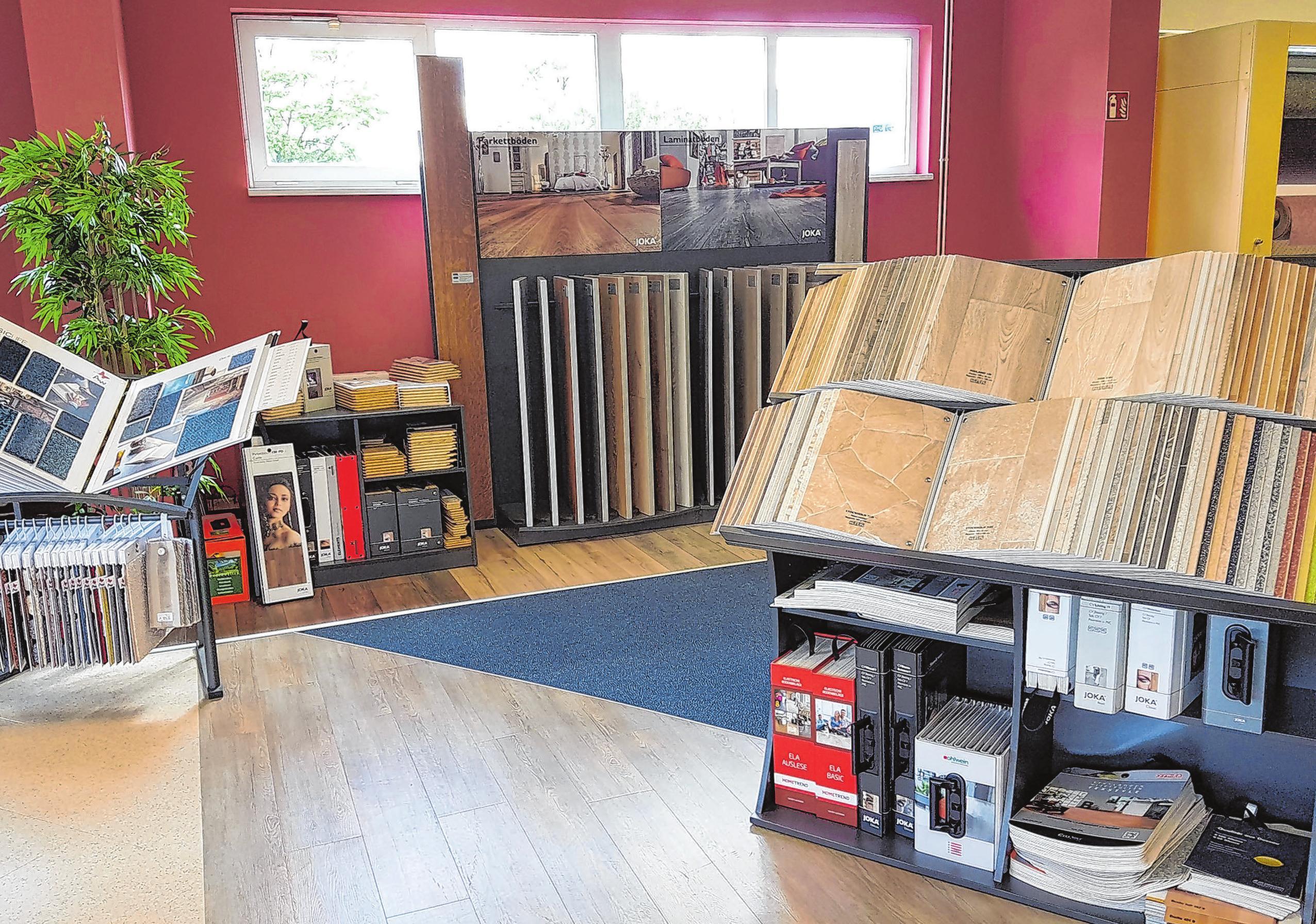Ein kleiner Einblick in die großen Verkaufsräume der Firma Prewena GmbH, die auf die Verlegung von Bodenbelägen aller Art spezialisiert ist.