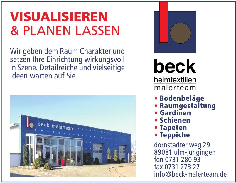 Beck Heimtextilien Malerteam