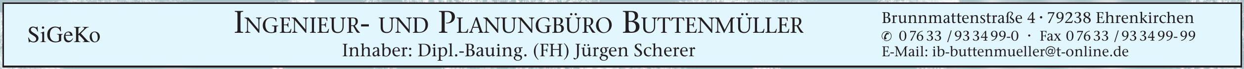 SiGeKo Ingenieur- und Planungsbüro Buttenmüller