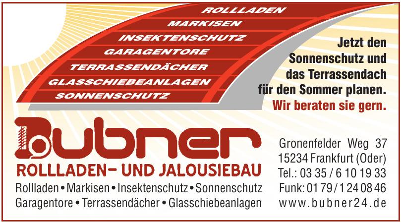 Bubner Rolladen- und Jalousiebau