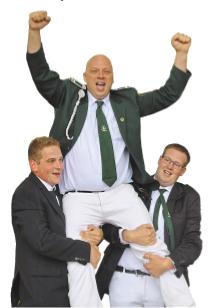 Nach dem königlichen Schuss ließ sich Dirk Sobbe tüchtig feiern.