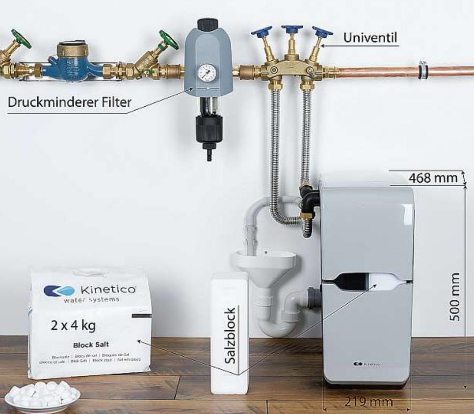 Stromlose Weichwasseranlagen sind nicht nur platzsparend, sondern senken auch die Energiekosten. FOTO: HFR