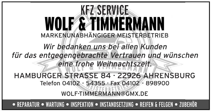 KFZ Service Wolf & Timmernamnn
