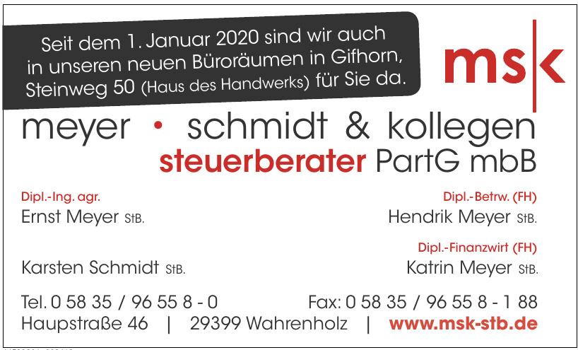 msk meyer, schmidt & koleggen steruerberater PartG mbB