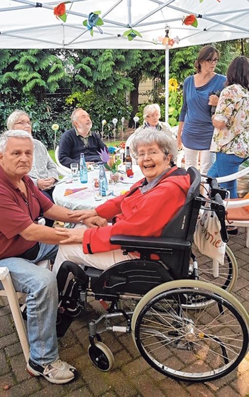 Auf dem Sommerfest haben die Bewohner vergnügliche Stunden verbracht Foto: Brigitta Palm