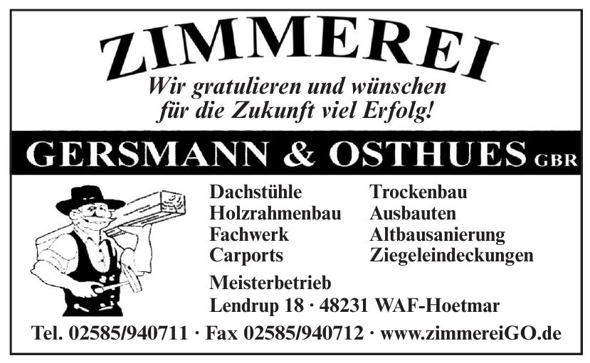 Zimmerei Gersmann und Osthues GBR