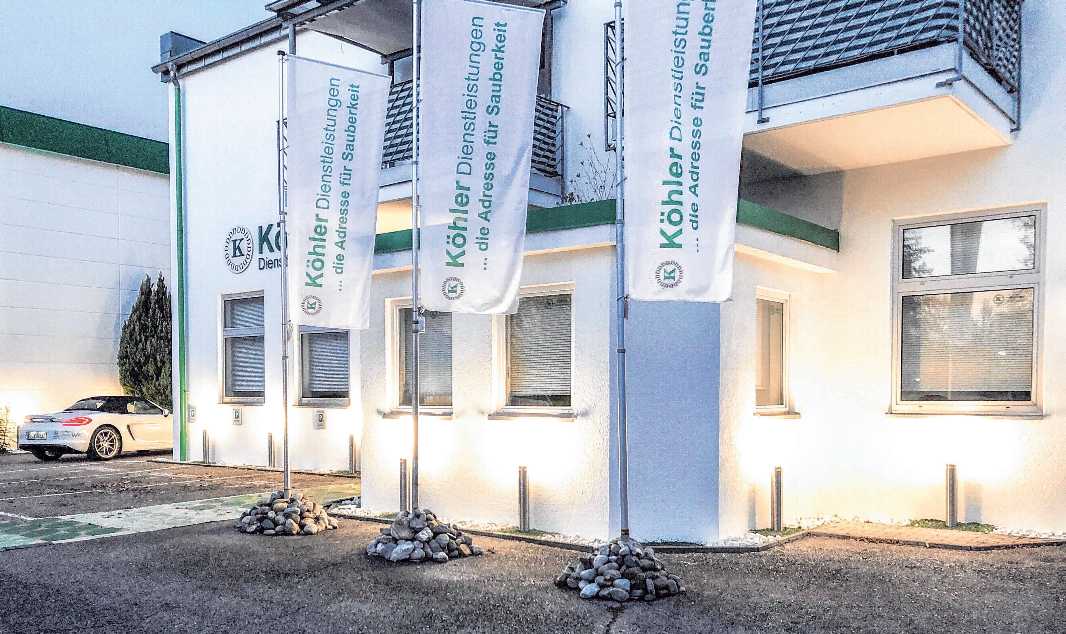 Im Baienfurter Gewerbegebiet Niederbiegen befindet sich bis heute die Hauptverwaltung der KÖHLER Unternehmensgruppe.