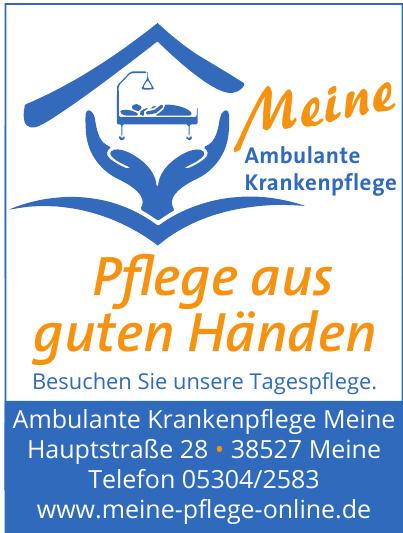 Ambulante Krankenpflege Meine