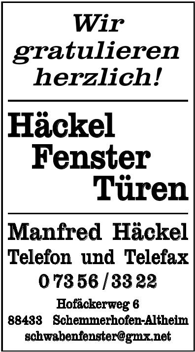 Manfred Häckel