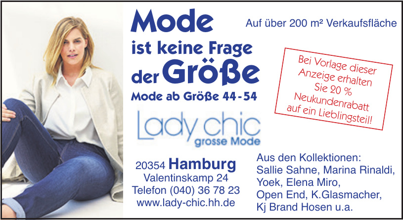 Lady chic große Mode