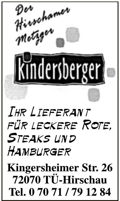 Metzgerei Kindersberger
