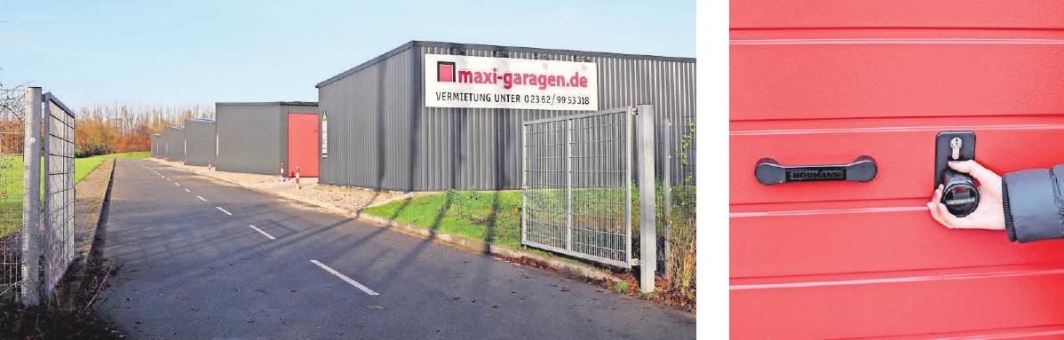 Unterschlupf für große Fahrzeuge: Die maxi-garagen sind jetzt auch in Lübeck verfügbar. Fotos: Dana Lange
