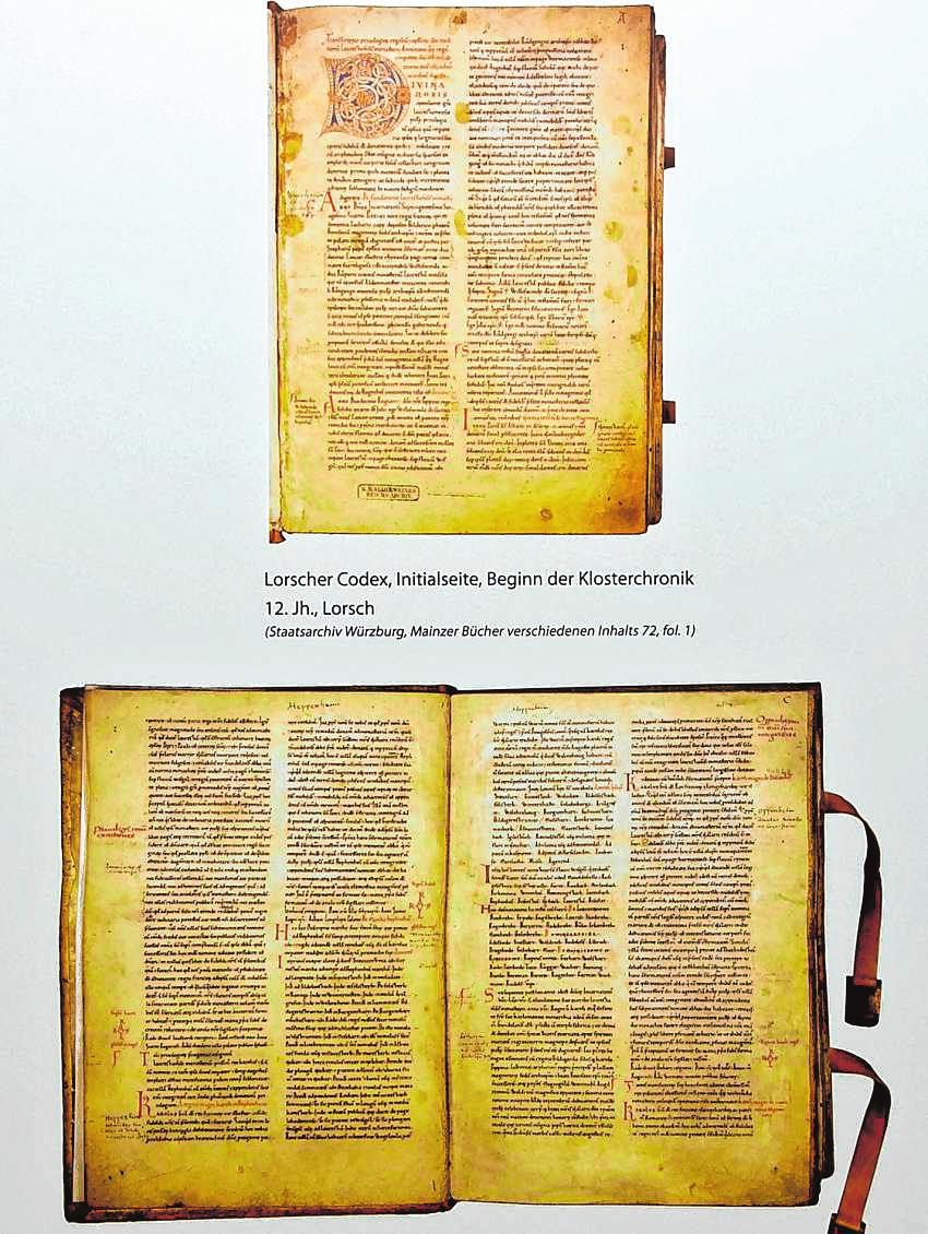 Der Codex Laureshamensis, im 12. Jahrhundert entstanden, ist noch heute ein Begriff. Denn der Lorscher Codex gilt als eine Art Grundbuch der Region. ARCHIVBILD: FUNCK