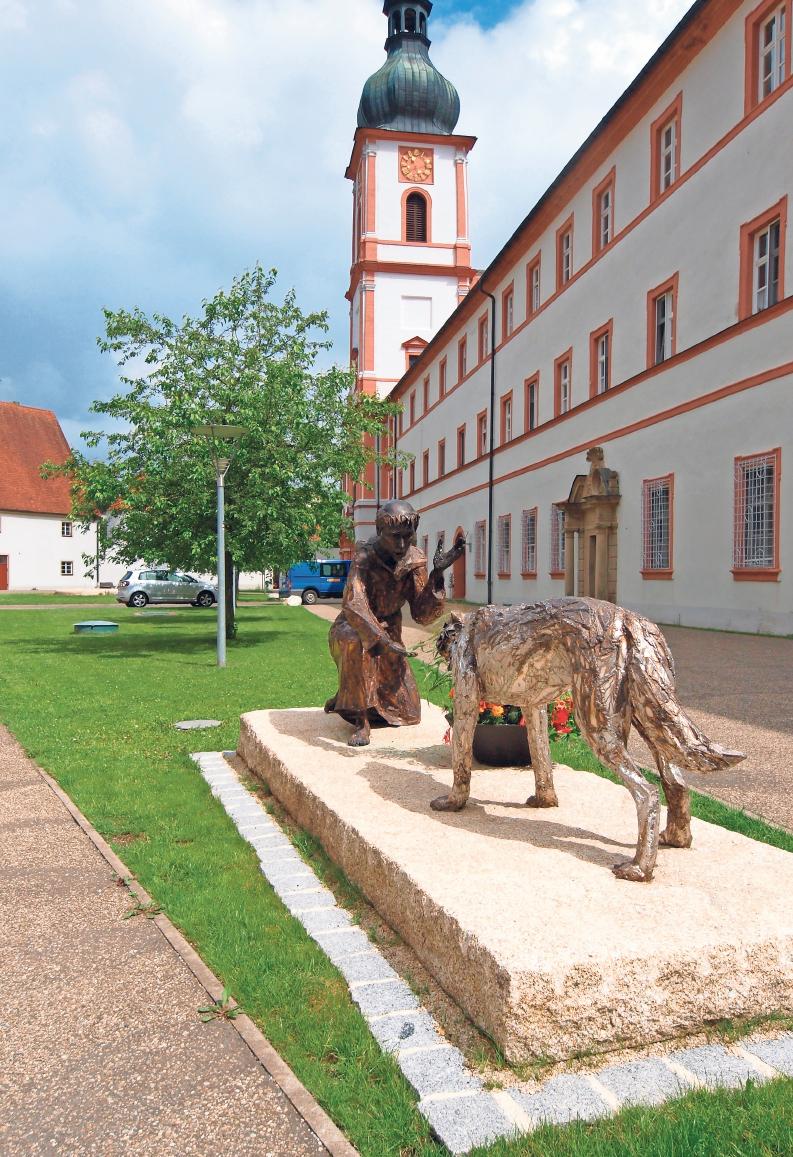 Klostergebäude und die Abteikirche wurden zwischen 1680 und 1700 neu errichtet.Foto: Klaus Trenz