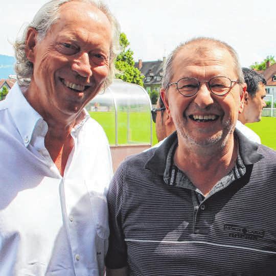 Foto zeigt ihn mit Lindaus OB Gerhard Ecker.