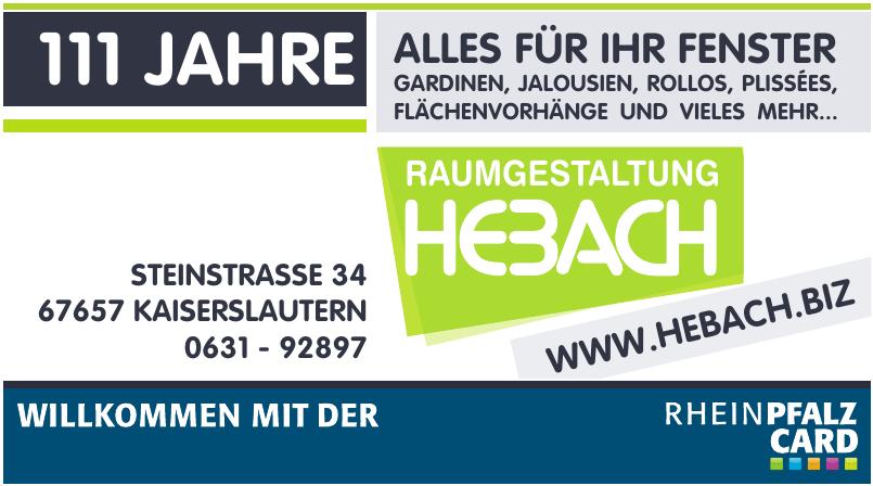 Raumgestaltung Hebach