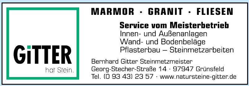 Gitter - Bernhard Gitter Steinmetzmeister