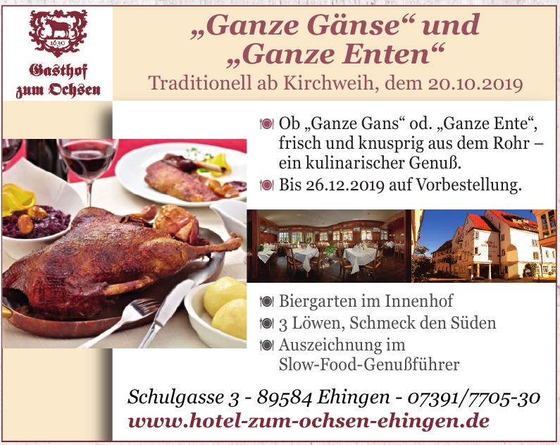 Hotel – Restaurant Gasthof zum Ochsen