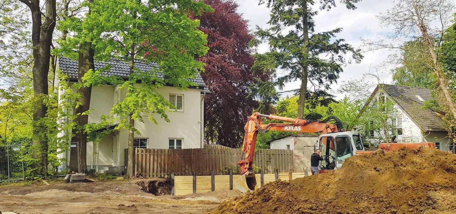 Baugruben und Bagger sind ein gewohnter Anblick in Lokstedt, hier Julius-Vosseler-/Ecke Emil-Andresen-Straße Fotos: mf