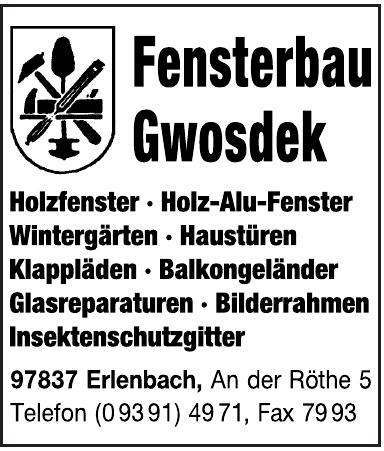 Fensterbau Gwosdek