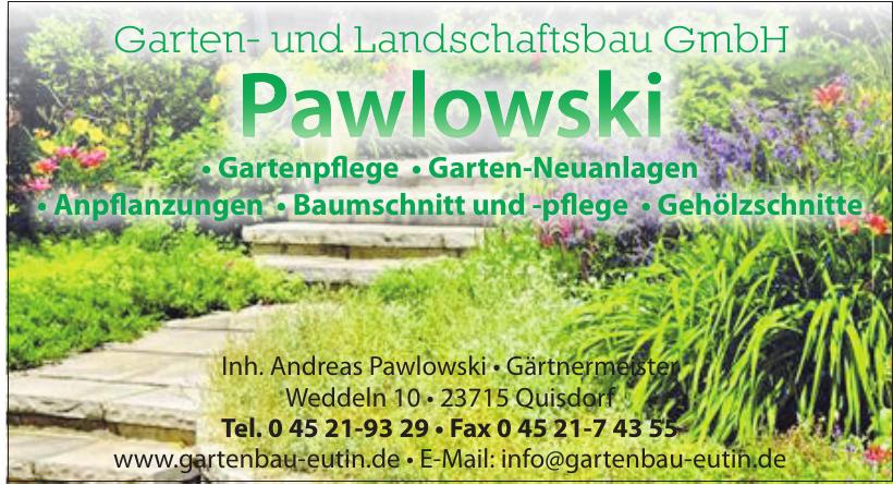 Garten- und Landschaftsbau GmbH Pawlowski
