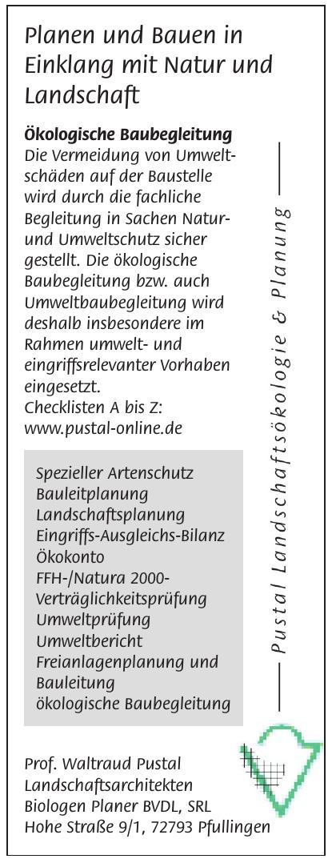 Prof. Waltraud Pustal Landschaftsarchitekten