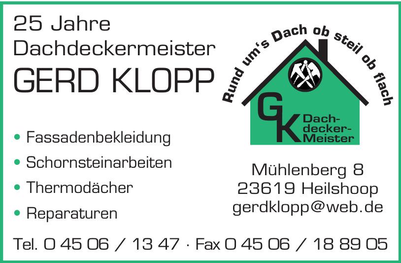 Dachdeckermeister Gerd Klopp