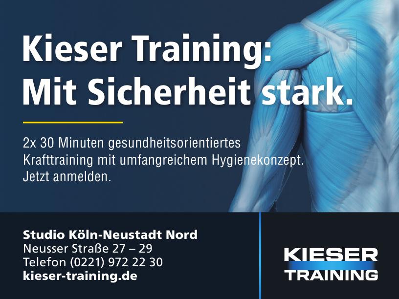 Kieser Training - Studio Köln-Neustadt Nord