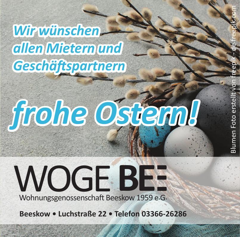 Woge Bee Wohnungsgenossenschaft Beeskow 1959 e.G.