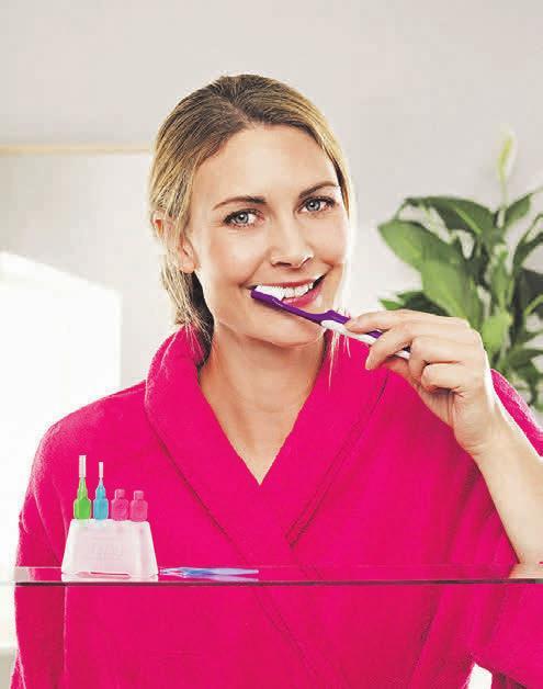 Eine Zahnbürste reinigt lediglich 60 Prozent der Zahnoberflächen – vielen Deutschen ist dies nicht bekannt. Foto: djd/www.tepe.com