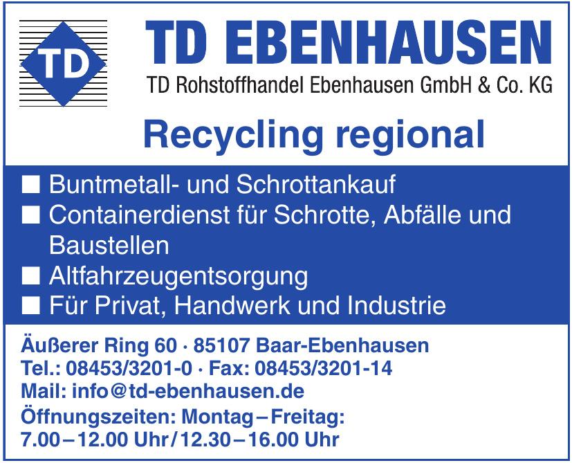 TD Rohstoffhandel Ebenhausen GmbH & Co. KG
