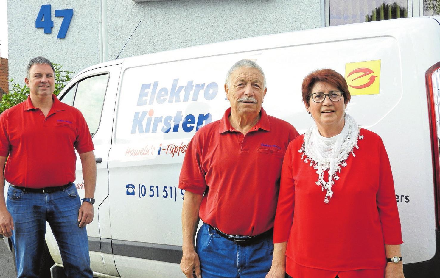 Reinhard, Elke und Stephan Kirsten. Foto hek