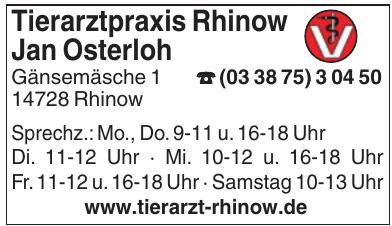 Tierarztpraxis Rhinow Jan Osterloh