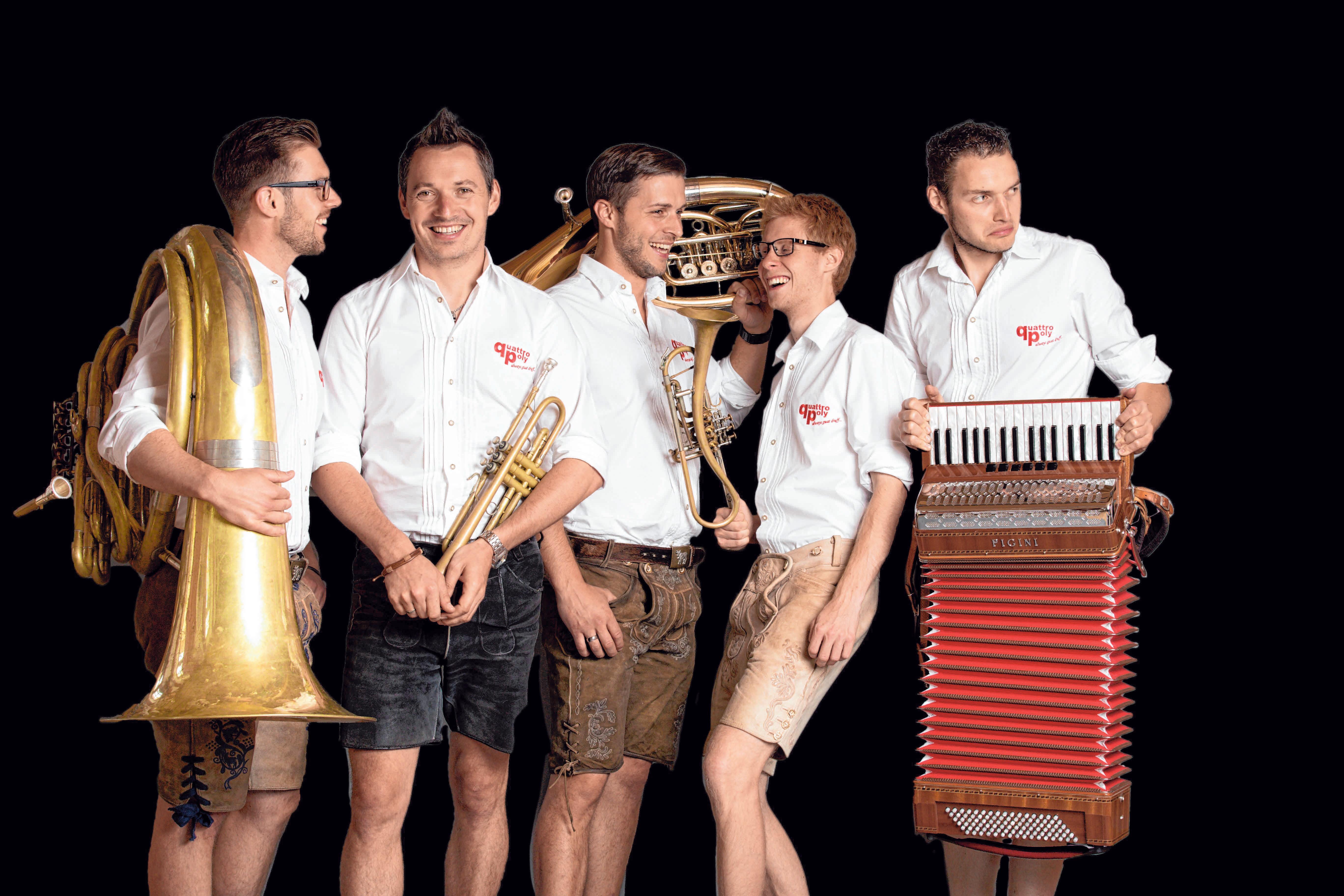 """Die Band """"Quattro Poly"""" ist bekannt für hochkarätige Blasmusik mit Solo-Einlagen und Gaudi. FOTO: PRIVAT"""