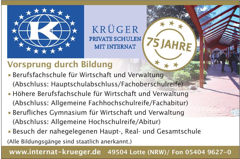 Krüger Private Schulen mit Internat