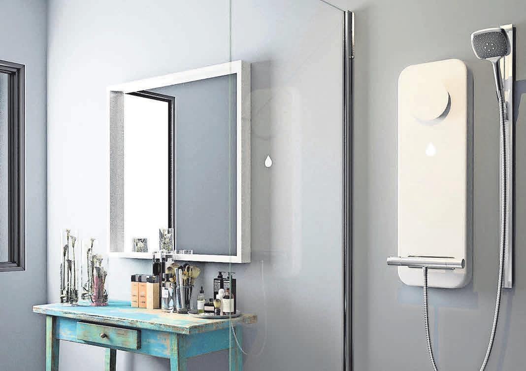 Innovativ: die Luft mit kaltem Wasser entfeuchten. Foto: Duschkraft