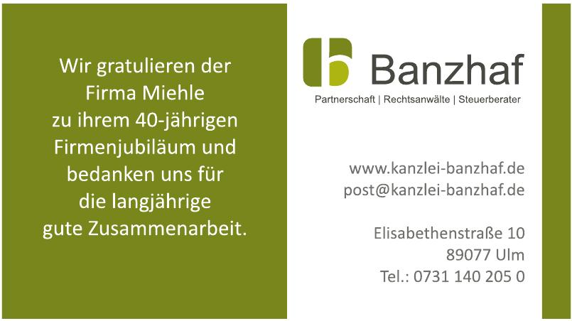 Banzhaf Partnerschaft - Rechtsanwälte, Steuerberater