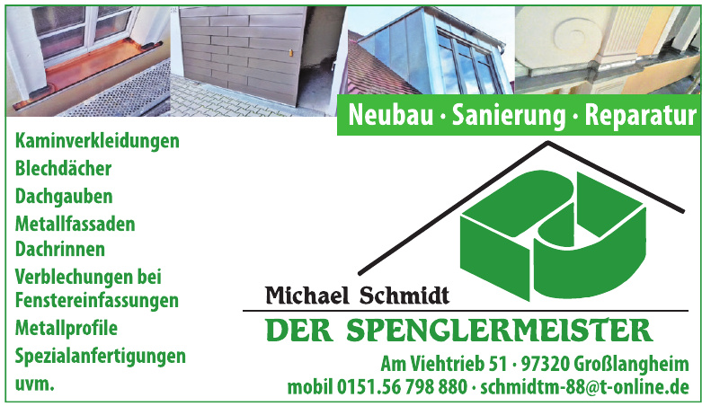 Michael Schmidt Der Spenglermeister