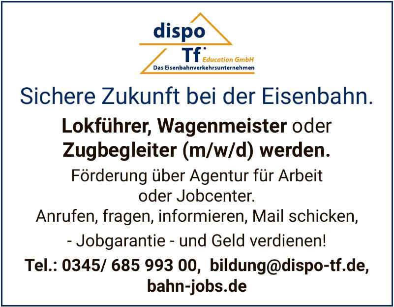 dispo Tf Education GmbH Das Eisenbahnverkehrsunternehmen