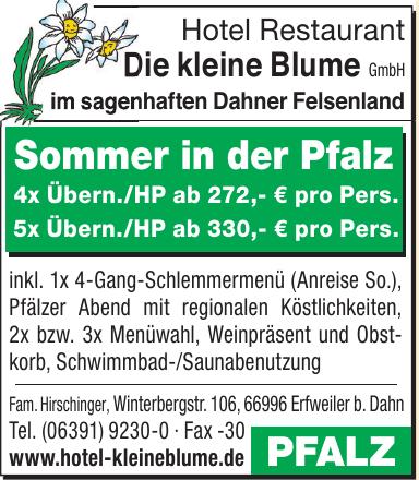 Hotel Restaurant Die kleine Blume GmbH