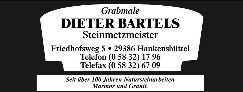 Grabmale Dieter Bartels