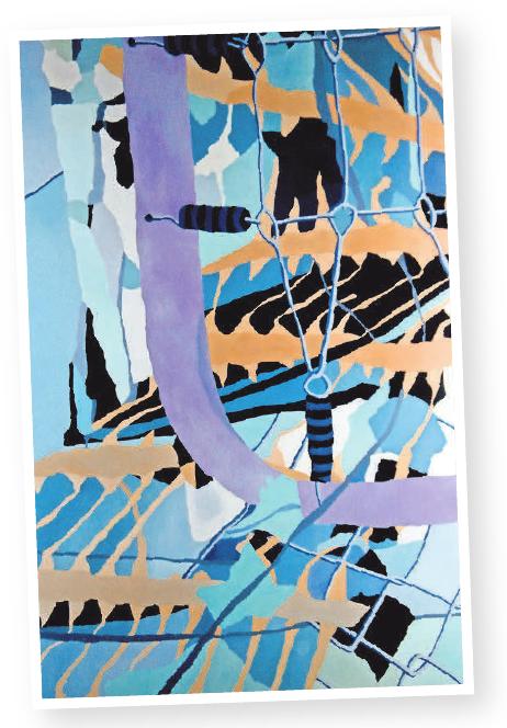 Aktuelle Arbeiten der Malerin Verena Vernunft gibt es in der Städtischen Galerie Lehrte zu sehen. Auf dem zweiten Blick sind in den Gemälden Alltagsgegenstände zu entdecken.Foto: privat