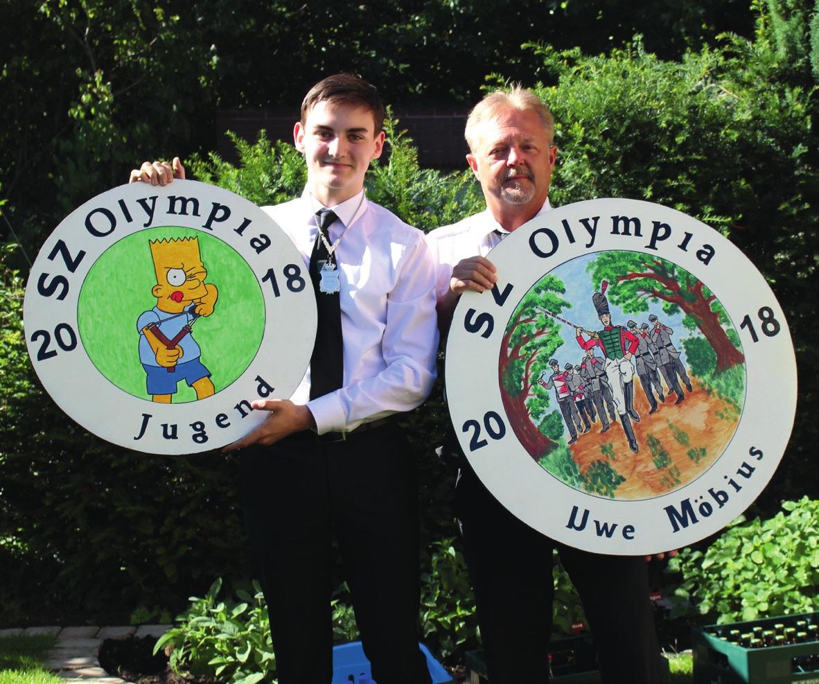 Die Majestäten Arne Thiel und Uwe Möbius.