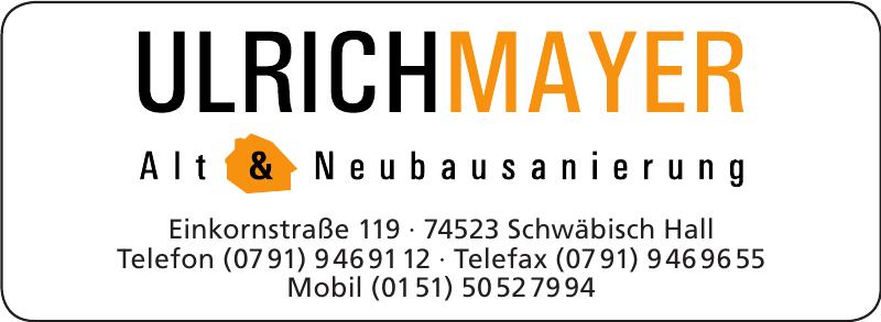 Ulrich Mayer Alt & Neubausanierung