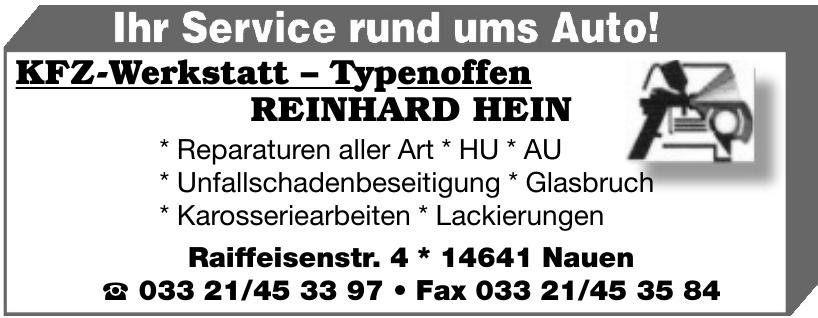 KFZ-Werkstatt - Typenoffen Reinhard Hein