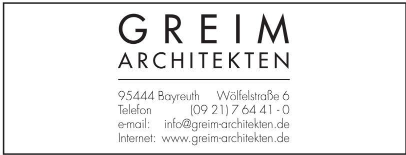 Greim Architekten