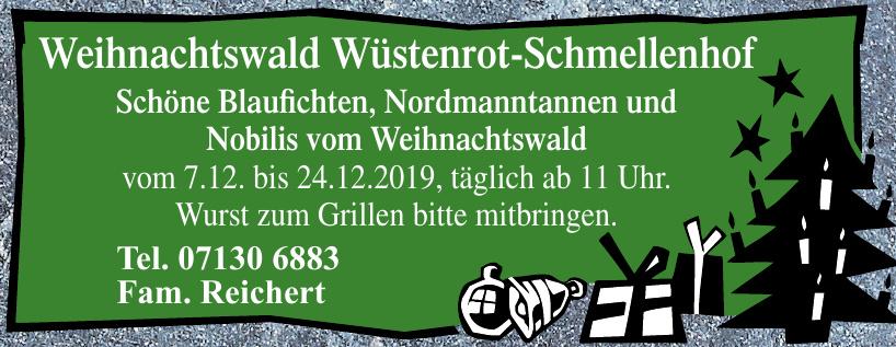 Weihnachtswald Wüstenrot-Schmellenhof