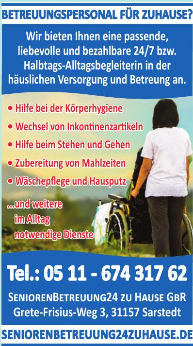 Senioren Betreuung 24 zu Hause GBR