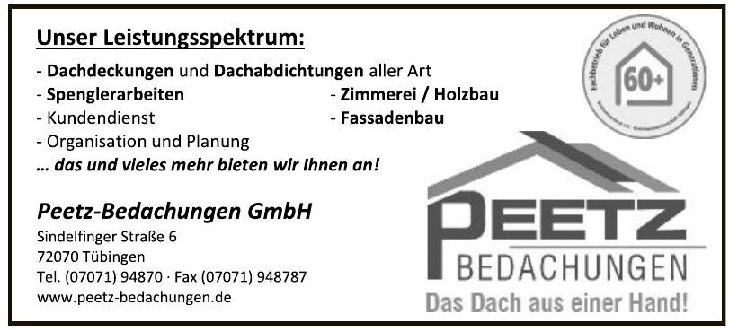 Firma Peetz-Bedachungen GmbH