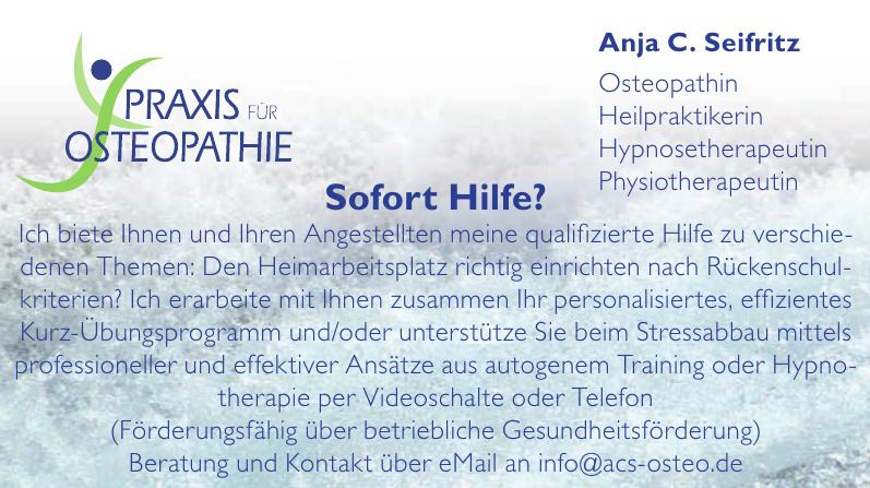 Praxis für Osteopathie - Anja C. Seifritz